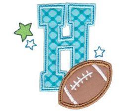 Football Alphabet Applique 8
