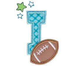 Football Alphabet Applique 9