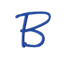 Freehand Alphabet Capital B
