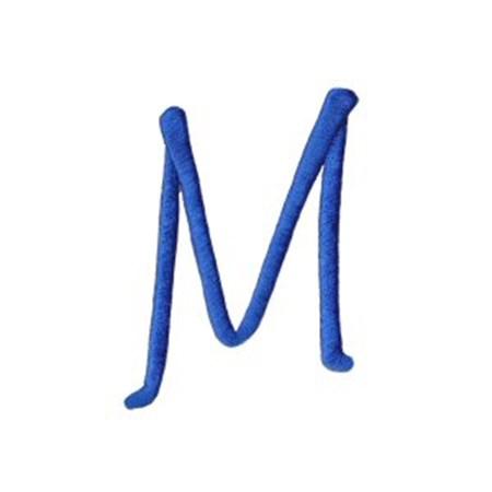 Freehand Alphabet Capital M