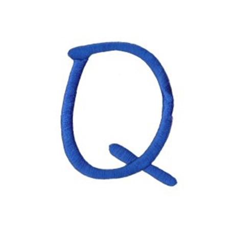 Freehand Alphabet Capital Q