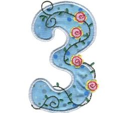 Funky Applique Numbers 3