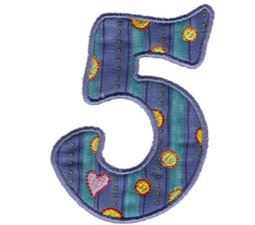 Funky Applique Numbers 5