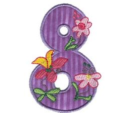 Funky Applique Numbers 8