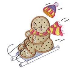 Gingerbreads Applique 8