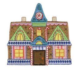 Gingerbread Village Applique 10
