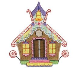Gingerbread Village Applique 11