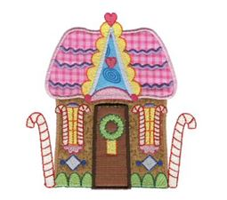 Gingerbread Village Applique 2