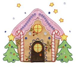 Gingerbread Village Applique 7