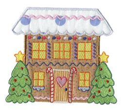 Gingerbread Village Applique 8