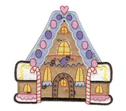 Gingerbread Village Applique 9