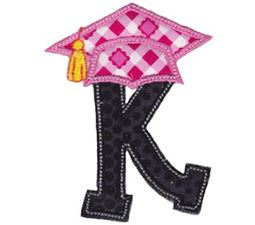 Graduation Alphabet Applique 11