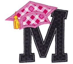 Graduation Alphabet Applique 13