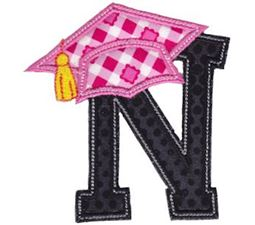 Graduation Alphabet Applique 14