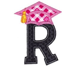 Graduation Alphabet Applique 18