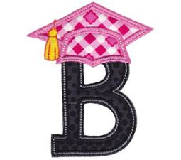 Graduation Alphabet Applique 2