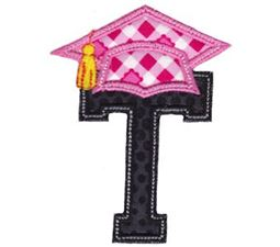 Graduation Alphabet Applique 20