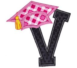 Graduation Alphabet Applique 22