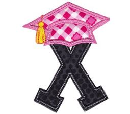 Graduation Alphabet Applique 24