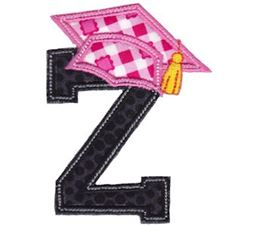Graduation Alphabet Applique 26