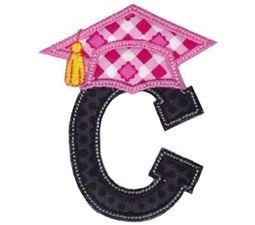 Graduation Alphabet Applique 3