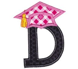 Graduation Alphabet Applique 4