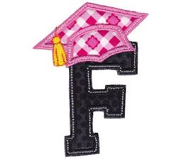 Graduation Alphabet Applique 6