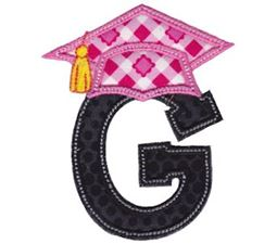 Graduation Alphabet Applique 7