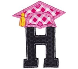 Graduation Alphabet Applique 8