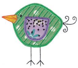 Here Birdy Applique 7