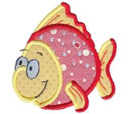 Here Fishy Applique 8