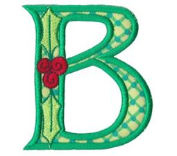 Holly Alpha Applique Capital B