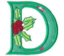 Holly Alpha Applique Capital D