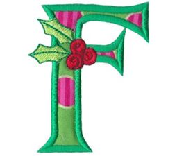 Holly Alpha Applique Capital F