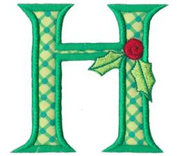 Holly Alpha Applique Capital H