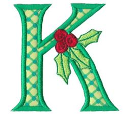 Holly Alpha Applique Capital K