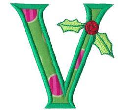 Holly Alpha Applique Capital V