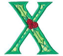 Holly Alpha Applique Capital X