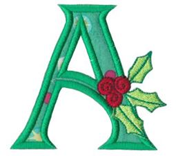Holly Alpha Applique Capital A