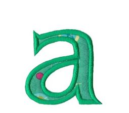 Holly Alpha Lower Case a