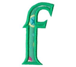 Holly Alpha Lower Case f