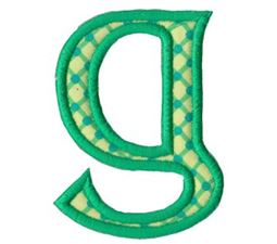 Holly Alpha Lower Case g