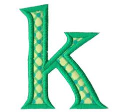 Holly Alpha Lower Case k