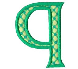 Holly Alpha Lower Case q