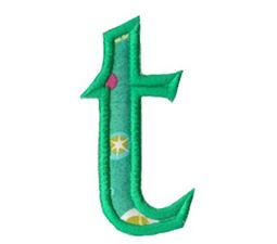 Holly Alpha Lower Case t