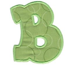 Kids Alpha Applique B