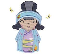 Kokeshi Dolls Applique 11