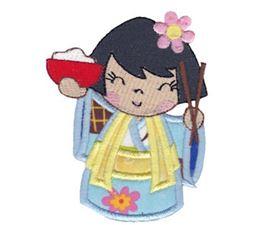 Kokeshi Dolls Applique 2