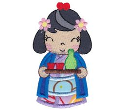 Kokeshi Dolls Applique 3