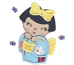 Kokeshi Dolls Applique 7